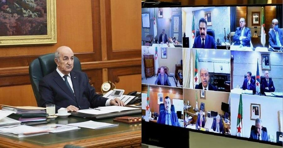 Photo de Tebboun a présidé hier une réunion extraordinaire du Conseil des ministres